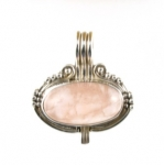 GP19 Silver rose quartz pendant