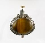 GP19 Silver tigers eye pendant