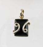 GP20 Silver black onyx pendant