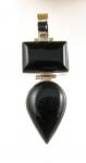 GP22 Silver black onyx pendant