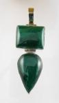GP22 Silver malachite pendant