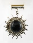 GP24 Silver black onyx pendant