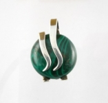 GP25 Silver malachite pendant WAS: £30.00