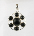 GP27 Silver black onyx pendant WAS: £32.00