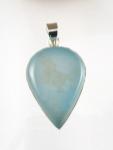 GP30L Silver blue chalcedony pendant