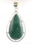 GP48 silver green adventurine pendant
