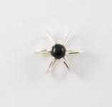 GP6 Silver gemstone star pendant