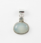 GP7 Silver blue chalcedony pendant