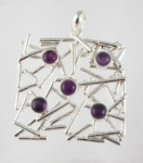 GP12 Silver random gemstone pendant WAS £51.50