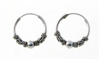 H12 Silver balinese hoops