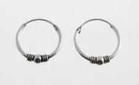 H25 Silver hoops
