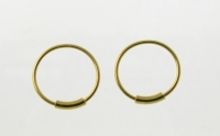 H36G Gold Plated Silver Hoops.