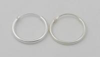 H41 Plain silver hoops