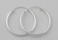 H42 Plain silver hoops