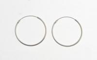 H43 Plain silver hoops