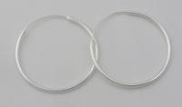 H44 Plain silver hoops