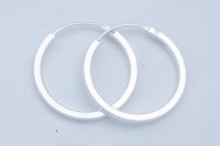 H53 Silver hoops