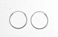 H62 Silver hoops