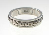 R259 Silver spinner ring