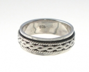 R247 Silver spinner ring