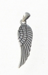 P125 Silver Angel Wing Pendant