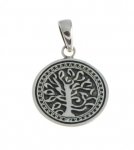 WP136 silver tree pendant