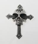 P153 Skull on cross pendant