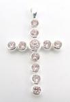P16 Pink crystal cross