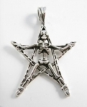 P165 Skeleton on a Pentagram