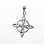P177 Celtic Diamond and Circle Pendent