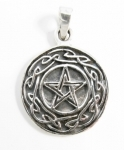 P192 Pentagram with celtic knotwork