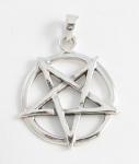P198a Upside down pentagram pendant