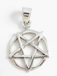 P198b Upside down pentagram pendant