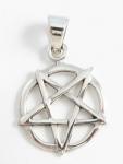 P198b Upside down pentagram pendant