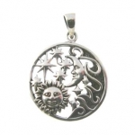 P208 Sun, Moon and Stars Pendent