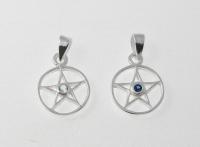 P211a Pentagram with CZ pendant