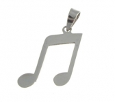 P218 Music note pendant