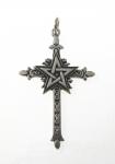 P222 Pentagram on cross pendant