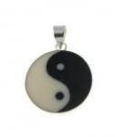 P267b Silver Yin and Yang Pendant