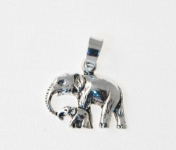 P271 Silver Elephant Pendant