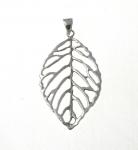 P301 Leaf skeleton pendant