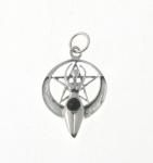 P328 Silver goddess pendant