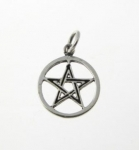 P344 Silver pentagram pendant