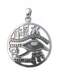 P366 Eye of Horus in circle Pendant