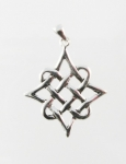 P74 Silver Celtic Diamond