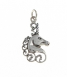 P85 Silver Unicorn Head Pendant