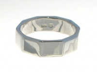 R90 Silver decagon ring