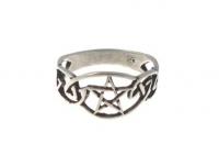 R222 Celtic pentagram ring