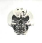 R298 Silver skull ring