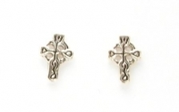 S11 Celtic cross studs